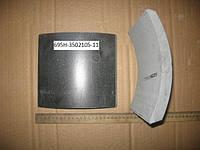 Накладка тормозная ЛАЗ 695 А291 RABA D10 задняя (180х19/14х206х204) (695Н-3502105-11)