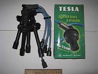 Провода высоковольтные ГАЗ силикон Двиг.406 (пр-во Tesla) зелёный Hi-temp (T696H)