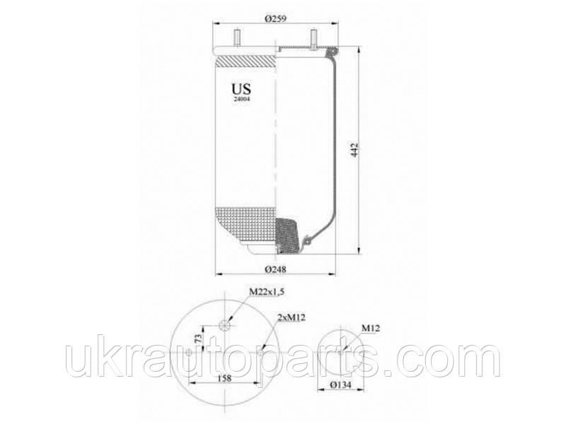 Пневмобаллон без стакана 259х442 (пр-во US) (US24004P)