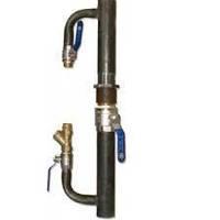 Байпас для систем отопления 330 мм, Ø40 с краном длинный