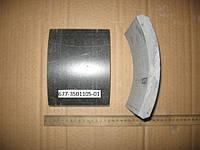 Накладка тормозная ЛАЗ ЛИАЗ 677 ИКАРУС передние (Tribo Украина) (140х20х191х181) (677-3501105-01)