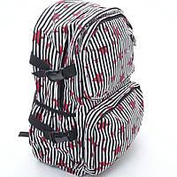 Городской рюкзак для стильной молодежи. Рюкзак черно-белый. Высокое качество. Удобный рюкзак. Код: КДН451