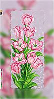 """Схема для вышивки бисером на подрамнике (холст) """"Букет розовых тюльпанов"""""""