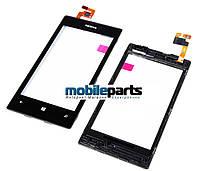 Оригинальный Сенсор (Тачскрин) для Nokia Lumia 520 (Черный) + (С рамкой)