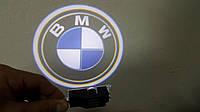 Штатные проекторы логотипа в двери для BMW