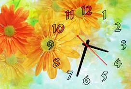 Часы на стену Z 140 30х45 оранжевый, желтый, голубой