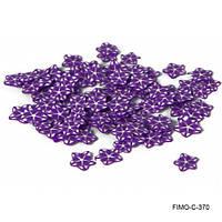 Фимо нарезка фиолетовый цветок из полимерной глины