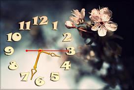 Часы на стену Z 143 30х45 темно- серые, саккура