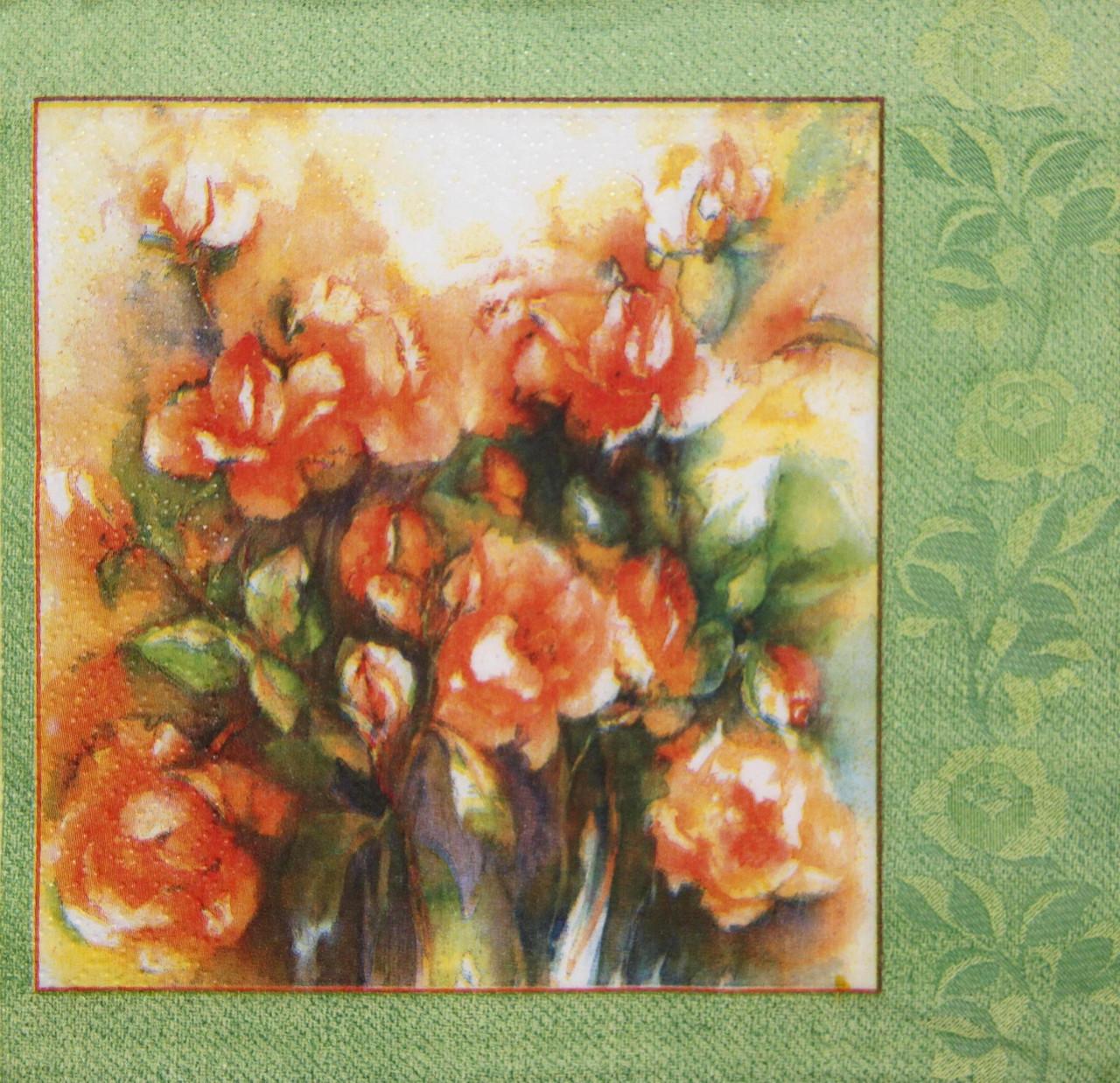 Салфетка декупажная Букет роз 1480