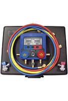 Манометрический коллектор 2-х вент. электронный Mastercool  (R134a+шланги 3х180 см+быстросъемы+нормы заправки)