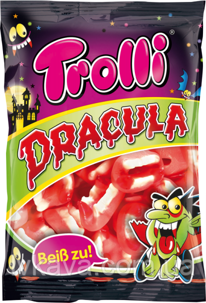 Желейные конфеты Trolli Dracula  , 200 гр