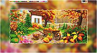"""Схема для вышивки бисером на подрамнике (холст) """"Телега. Осенний пейзаж"""""""