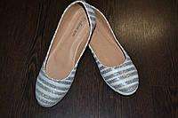 Бело-серебристые балетки, 39р, фото 1