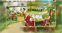 """Схема для вышивки бисером на подрамнике (холст) """"Запорожские казаки на отдыхе"""""""
