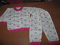 Детские пижамки на байке для мальчиков и  девочек  68-74 см  год Турция