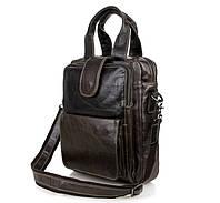 """Сумка мужская портфель """"Retro-3"""", цвет тёмно-серый, фото 1"""