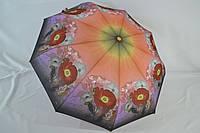 Женский зонтик автомат «EIKCO» с красивым цветочным узором.