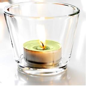 Подсвечник стеклянный высокий для чайной свечи 6 см