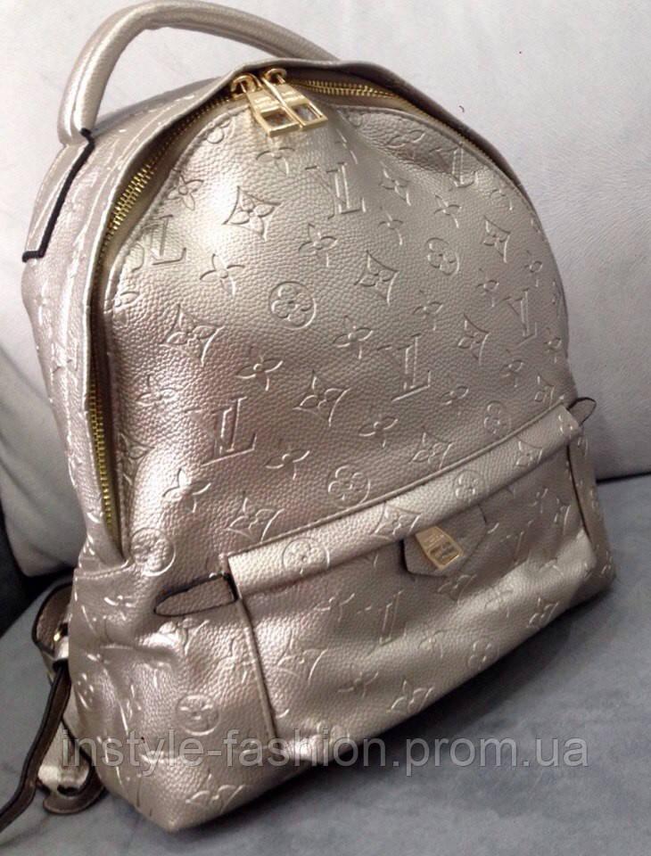 Рюкзак луи витон рюкзак Louis Vuitton серебрянный мини