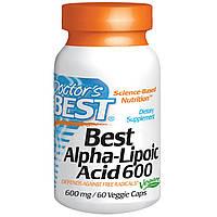 Doctor's Best, Альфа-липоевая кислота (Best Alpha-Lipoic Acid), 600 мг, 60 растительных капсул, фото 1