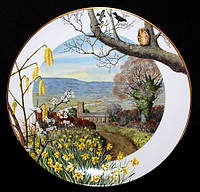 Коллекционная тарелка№1! Англия!Franklin Porcelain