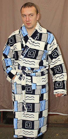 Махровый мужской халат, фото 2