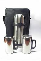 Набор термос 1,1 литр + 2 кружки в сумке DYNASTY 10214