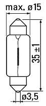 Автомобильная лампа SLS LED с обманкой в номера, салон, цоколь SV8,5(C5W) 36mm 6-5630 Белый, фото 3