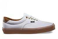 """Кеды текстильные унисекс Vans Era 59 White Gum """"Белые с коричневой подошвой"""" р. 4.5-11 (35-38, 41-44), фото 1"""