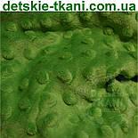 Плюш minky темно-зеленого кольору., фото 4