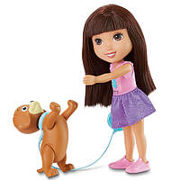 Интерактивная кукла Даша Путешественница Дора и щенок Перрито Fisher-Price Train and Play Dora and Perrito
