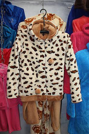 Кольорова махрова піжама, фото 2