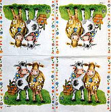 Декупажні серветки Корови подружки 1496