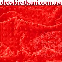 Плюш minky тёмно-красного цвета.