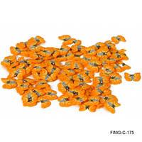 Фимо нарезка оранжевые бабочки
