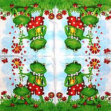 Декупажні серветки Пара жаб 1499