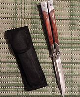 Филиппинский нож- балисонг (бабочка) с рукояткой из палисандра.