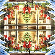 Салфетка декупажная Дети под окном 1505
