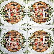 Салфетка декупажная Пекут рождественские пряники 1506