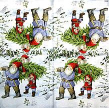 Салфетки для декупажа Несут ёлку 1508