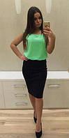 Платье Женственное Офисный Стиль на лето Платье Обманка