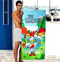 Детские пляжные полотенца The Smurfs - №1636
