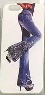 Пластиковый чехол накладка для iPhone 6 Flower jeans plastic case