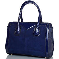 Женская сумка из качественного кожезаменителя и натуральной замши ANNA&LI (АННА И ЛИ) TU13994-navy