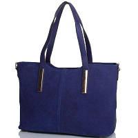 Женская сумка из качественного кожезаменителя и натуральной замши ANNA&LI (АННА И ЛИ) TU14432-navy