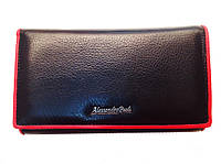 Женский кошелек Alessandro Paoli WS-2 черный из натуральной кожи размер 17х9 монетница внутри