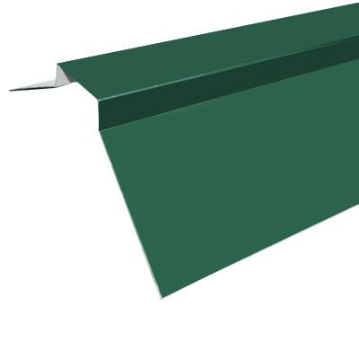 Покрівельний коник, 2 м, колір зелений 6005, фігурний, метал+цинк+полімер