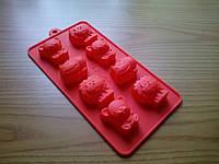 Форма силиконовая для конфет Зверушки