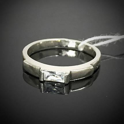 Срібне жіноче кільце з фианитом, фото 2