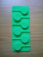 Форма силиконовая для конфет на палочке Завиток
